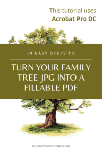 How to turn an image into a fillable PDF using Adobe's Acrobat Pro DC