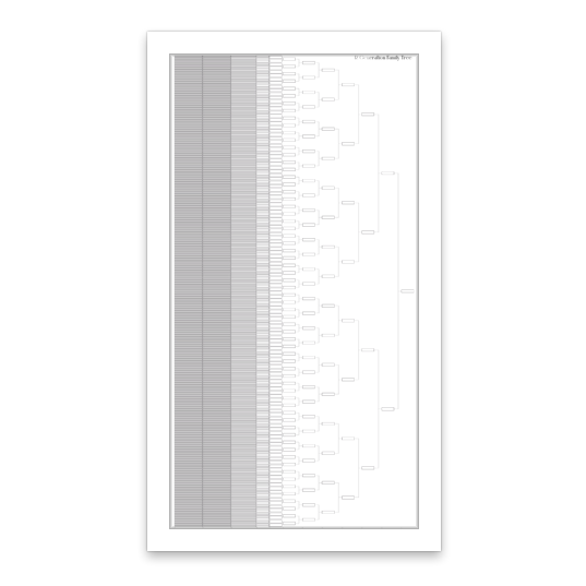 12 Generation Family Tree Chart