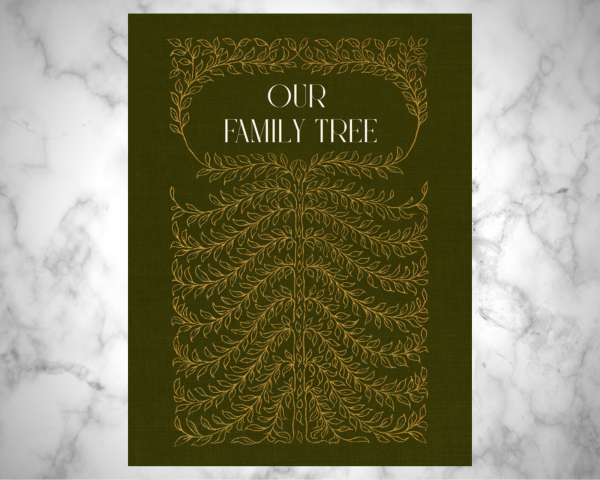 12 generation family tree notebook in hardcover