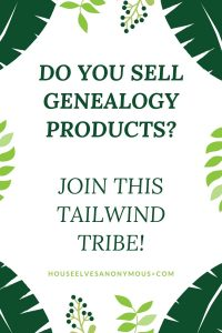 Tailwind Tribe for Genealogy Products